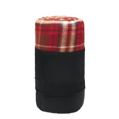 Picture of RPET FLEECE TRAVEL BLANKET in Red