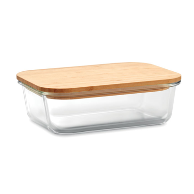 Picture of GLASS LUNCH BOX with Bamboo Lid
