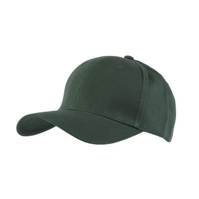 Picture of 100% BRUSHED COTTON 6 PANEL CHILDRENS BASEBALL CAP in Dark Green