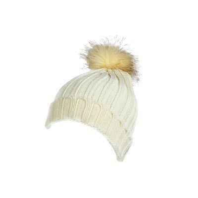 Picture of 100% ACRYLIC DEEP RIBBED KNIT BEANIE in Natural