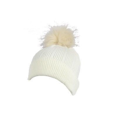 Picture of 100% ACRYLIC FLAT RIBBED KNIT BEANIE in Natural