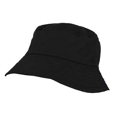 Picture of 100% WASHED CHINO COTTON BUCKET HAT in Black
