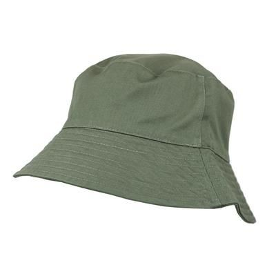 Picture of 100% WASHED CHINO COTTON BUCKET HAT in Olive