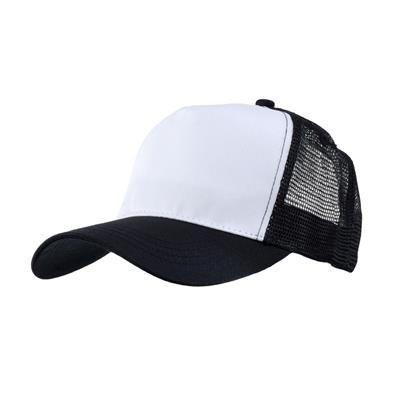 Picture of MESH BACK TRUCKER BASEBALL CAP in Black