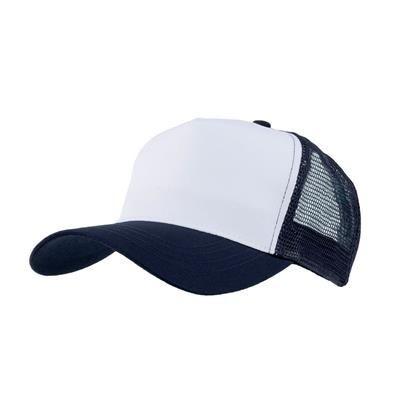 Picture of MESH BACK TRUCKER BASEBALL CAP in Navy