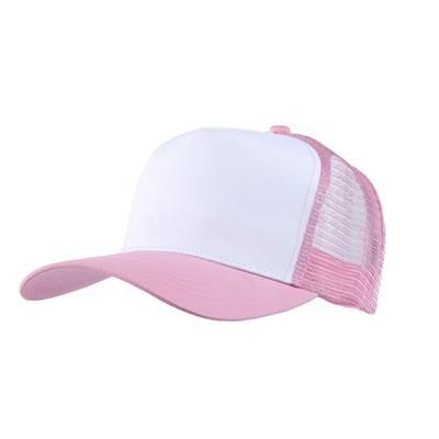 Picture of MESH BACK TRUCKER BASEBALL CAP in Pink