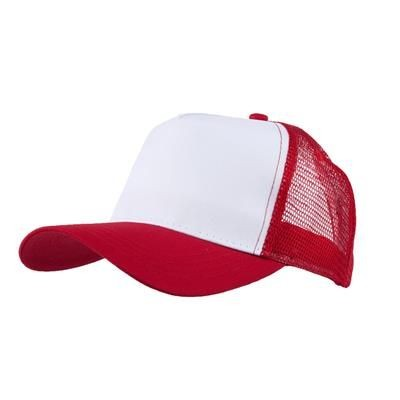 Picture of MESH BACK TRUCKER BASEBALL CAP in Red