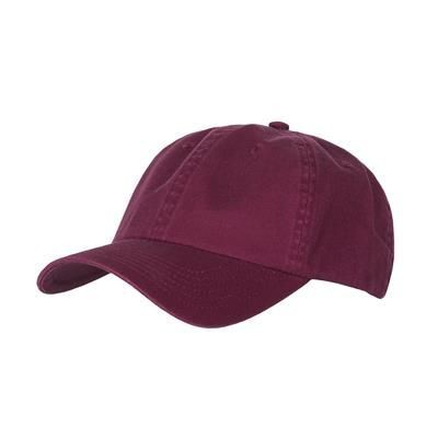 Picture of COTTON 6 PANEL BASEBALL CAP in Maroon