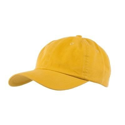 Picture of COTTON 6 PANEL BASEBALL CAP in Mustard Yellow