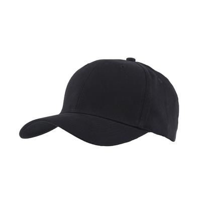 Picture of 100% BRUSHED COTTON 6 PANEL CHILDRENS BASEBALL CAP in Black