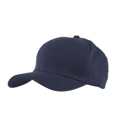Picture of 100% BRUSHED COTTON 6 PANEL CHILDRENS BASEBALL CAP in Navy