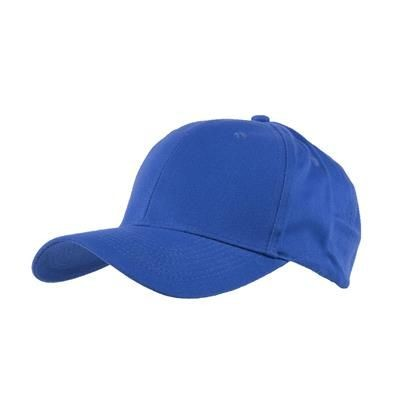 Picture of 100% BRUSHED COTTON 6 PANEL CHILDRENS BASEBALL CAP in Royal