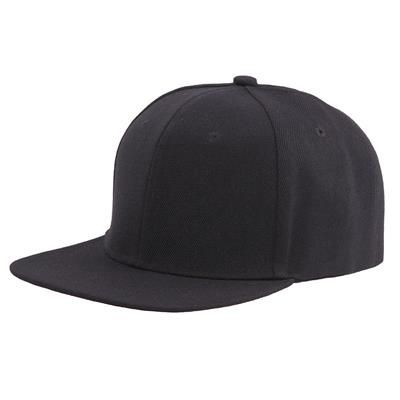 Picture of 100% ACRYLIC SNAPBACK BASEBALL CAP in Black
