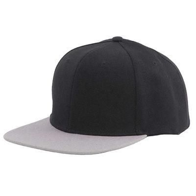 Picture of 100% ACRYLIC SNAPBACK BASEBALL CAP in Black & Grey