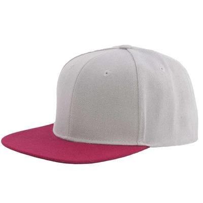 Picture of 100% ACRYLIC SNAPBACK BASEBALL CAP in Grey & Maroon