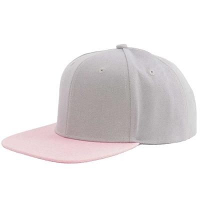 Picture of 100% ACRYLIC SNAPBACK BASEBALL CAP in Grey & Pink