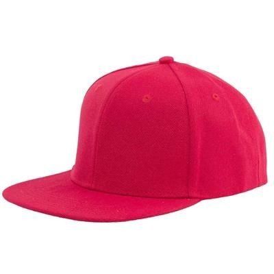 Picture of 100% ACRYLIC SNAPBACK BASEBALL CAP in Red