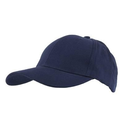 Picture of COTTON 6 PANEL BASEBALL CAP in Navy