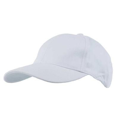 Picture of COTTON 6 PANEL BASEBALL CAP in White