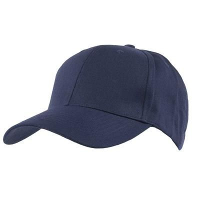 Picture of COTTON 6 PANEL BASEBALL CAP in Navy Blue