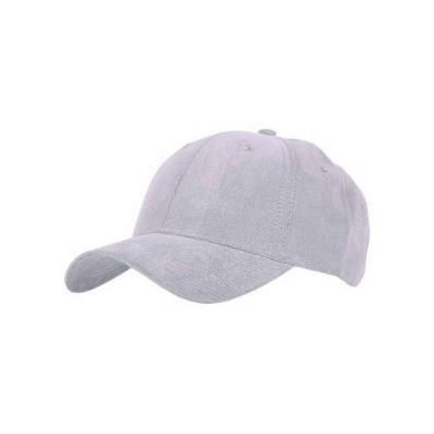Picture of TACTILE MICROFIBRE WEAVE SIX PANEL BASEBALL CAP in Grey