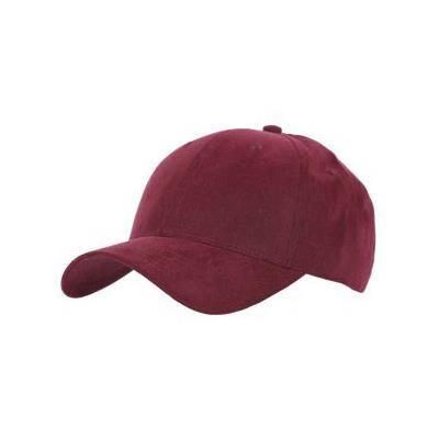 Picture of TACTILE MICROFIBRE WEAVE SIX PANEL BASEBALL CAP in Maroon