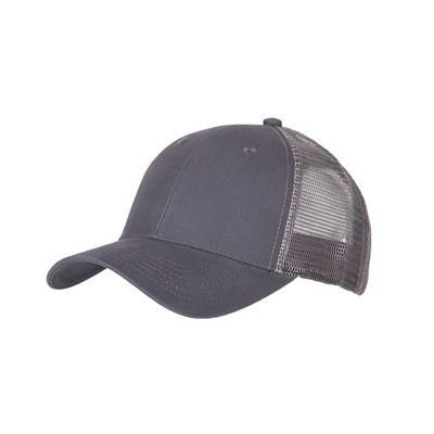 Picture of 100% COTTON FRONTED 6 PANEL TRUCKER CAP in Charcoal