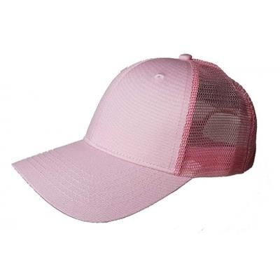 Picture of 100% COTTON FRONTED 6 PANEL TRUCKER CAP in Pink