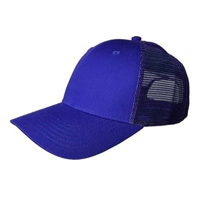 Picture of 100% COTTON FRONTED 6 PANEL TRUCKER CAP in Purple