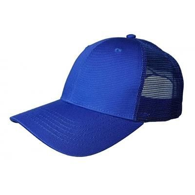 Picture of 100% COTTON FRONTED 6 PANEL TRUCKER CAP in Royal