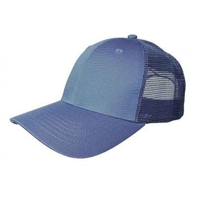 Picture of 100% COTTON FRONTED 6 PANEL TRUCKER CAP in Steel Blue