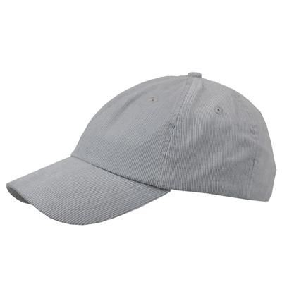 Picture of POLY-COTTON CORD 6 PANEL UNSTRUCTURED BASEBALL CAP in Grey