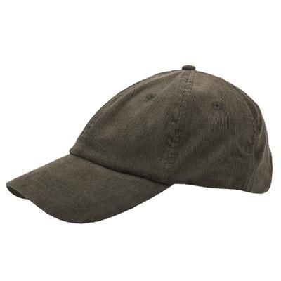 Picture of POLY-COTTON CORD 6 PANEL UNSTRUCTURED BASEBALL CAP in Khaki