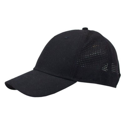 Picture of 100% POLYESTER 5 PANEL BASEBALL CAP in Black