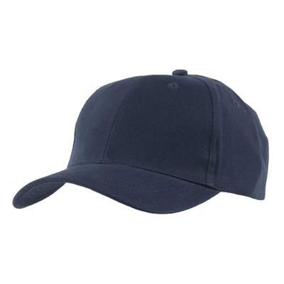 Picture of EXTRA HEAVY BRUSHED COTTON 6 PANEL BASEBALL CAP in Navy
