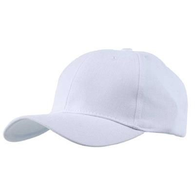 Picture of EXTRA HEAVY BRUSHED COTTON 6 PANEL BASEBALL CAP in White