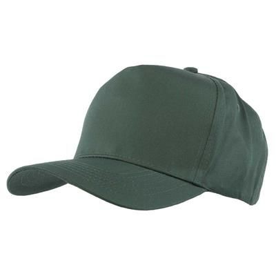 Picture of FULLY COVERED 5 PANEL BASEBALL CAP in Bottle Green