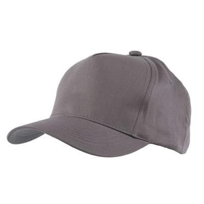 Picture of FULLY COVERED 5 PANEL BASEBALL CAP in Grey
