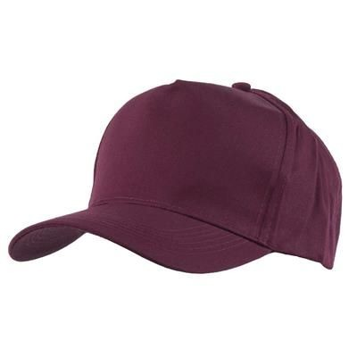 Picture of FULLY COVERED 5 PANEL BASEBALL CAP in Maroon