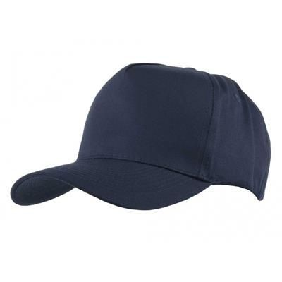 Picture of FULLY COVERED 5 PANEL BASEBALL CAP in Navy Blue & White