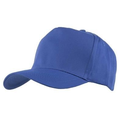 Picture of FULLY COVERED 5 PANEL BASEBALL CAP in Royal Blue & White
