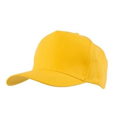 Picture of FULLY COVERED 5 PANEL BASEBALL CAP in Yellow