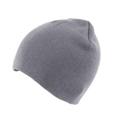 Picture of KNITTED SKI HAT WITHOUT TURN UP in Grey