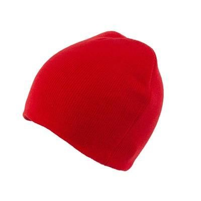 Picture of KNITTED SKI HAT WITHOUT TURN UP in Red