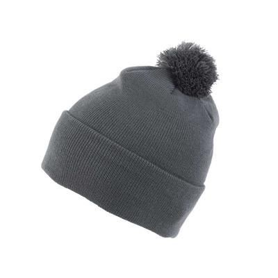 Picture of KNITTED ACRYLIC BEANIE HAT in Grey