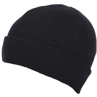 Picture of PREMIUM CIRCULAR KNIT 100% ACRYLIC BEANIE HAT in Black