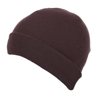 Picture of PREMIUM CIRCULAR KNIT 100% ACRYLIC BEANIE HAT in Brown