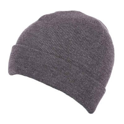 Picture of PREMIUM CIRCULAR KNIT 100% ACRYLIC BEANIE HAT in Grey
