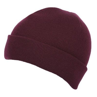 Picture of PREMIUM CIRCULAR KNIT 100% ACRYLIC BEANIE HAT in Maroon