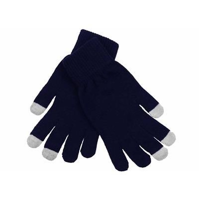 Picture of ACRYLIC LYCRA BLEND MAGIC GLOVES in Navy Blue & Grey